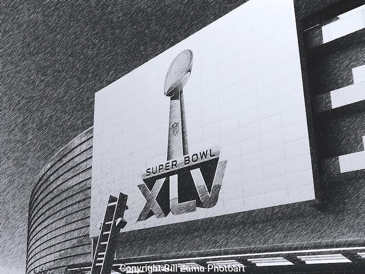 Super Bowl XLV at Texas Stadium in Arlington TX