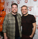 """Nicholas Kohn and Jeff Marx attend the 'Avenue Q"""" 13th Anniversary and 3,QQQ Performance with Bar Mitzvah Party at the New World Stages on January 12, 2017 in New York City."""