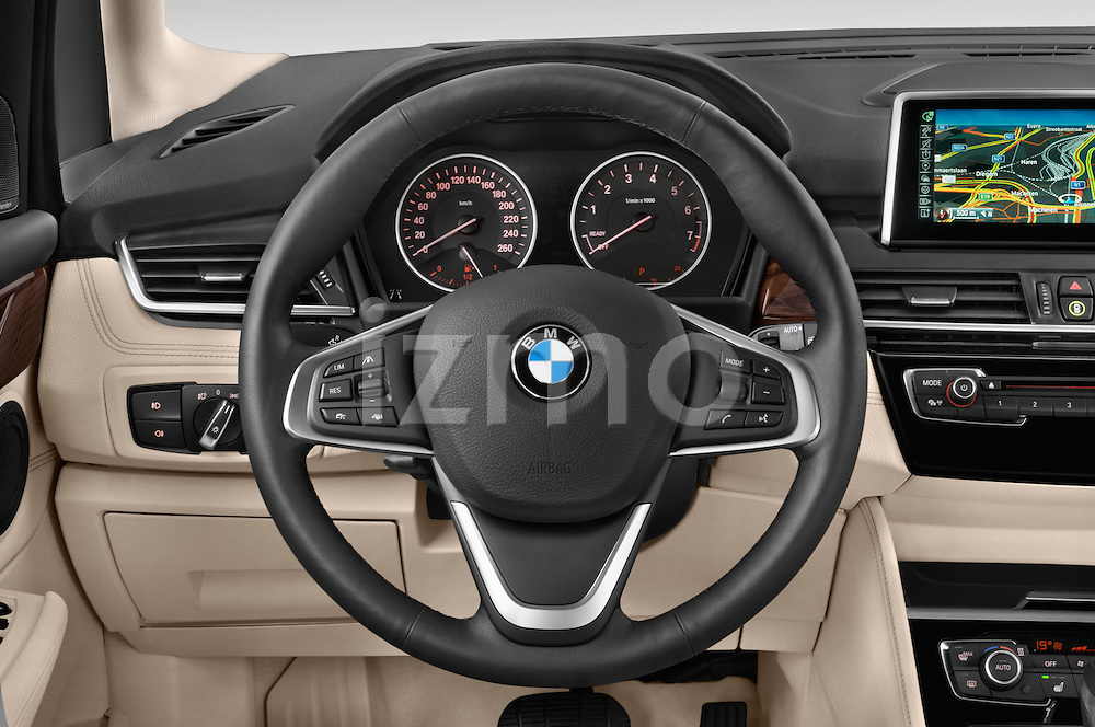 Car pictures of steering wheel view of a 2015 BMW 2 Series 5 Door Mini MPV 2WD Steering Wheel