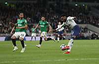 Tottenham Hotspur's Danny Rose with a second half shot<br /> <br /> Photographer Rob Newell/CameraSport<br /> <br /> The Premier League - Tottenham Hotspur v Brighton and Hove Albion - Tuesday 23rd April 2019 - White Hart Lane - London<br /> <br /> World Copyright © 2019 CameraSport. All rights reserved. 43 Linden Ave. Countesthorpe. Leicester. England. LE8 5PG - Tel: +44 (0) 116 277 4147 - admin@camerasport.com - www.camerasport.com