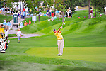 27 August 2009: Kenny Perry hits from the fairway during the first round of The Barclays PGA Playoffs at Liberty National Golf Course in Jersey City, New Jersey.