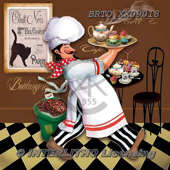 Alfredo, STILL LIFE STILLLEBEN, NATURALEZA MORTA, paintings+++++,BRTOXX09018,#i# ,cook,restaurant,serving meals