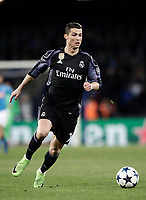 Football Soccer: UEFA Champions League Round of 16 second leg, Napoli-Real Madrid, San Paolo stadium, Naples, Italy, March 7, 2017. <br /> Real Madrid's Cristiano Ronaldo in action during the Champions League football soccer match between Napoli and Real Madrid at the San Paolo stadium, 7 March 2017. <br /> Real Madrid won 3-1 to reach the quarter-finals.<br /> UPDATE IMAGES PRESS/Isabella Bonotto