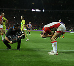 St Helens Paul Wellens at the end- First Utility Super League Grand Final - St Helens v Wigan Warriors - Old Trafford Stadium - Manchester - England - 11th October 2014 - Pic Paul Currie/Sportimage