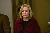 United States Senator Kirsten Gillibrand (Democrat of New York) departs the United States Capitol after the conclusion of day six in the impeachment trial of United States President Donald J. Trump in Washington D.C., U.S., on Monday, January 27, 2020.<br />  <br /> Credit: Stefani Reynolds / CNP