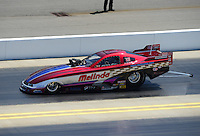 Apr. 14, 2012; Concord, NC, USA: NHRA top alcohol funny car driver Melinda Green during qualifying for the Four Wide Nationals at zMax Dragway. Mandatory Credit: Mark J. Rebilas-