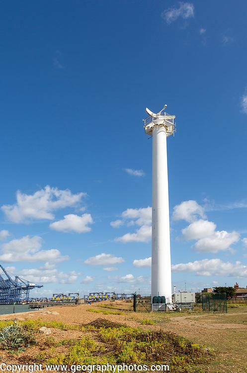Easat Marine Radar tower for shipping at Landguard, Port of Felixstowe, Suffolk, England, UK