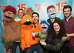 """Jason Jacoby and Matt Dengler with Avenue Q & Puppetry Fans during """"Avenue Q"""" Celebrates World Puppetry Day at The New World Stages on 3/21/2019 in New York City."""