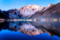 The pre-dawn light adds a magic to the grandeur of Convict Lake and the hint of autumn around the lake