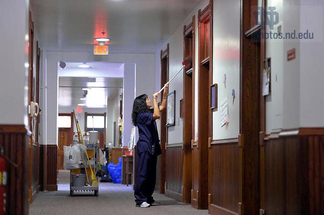 Nov. 2, 2010; Housekeeping in Badin Hall...Photo by Matt Cashore/University of Notre Dame