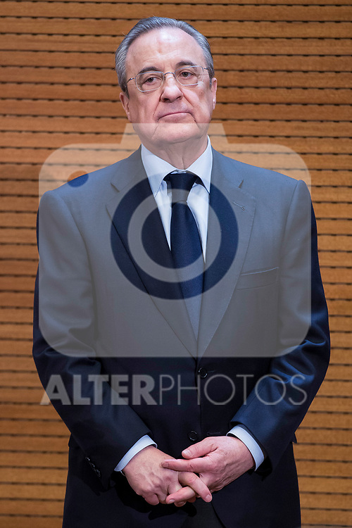 Real Madrid president Florentino Perez during visit to Madrid Council during  the celebration of the 13th UEFA Championship in Madrid, June 04, 2017. Spain.<br /> (ALTERPHOTOS/BorjaB.Hojas)