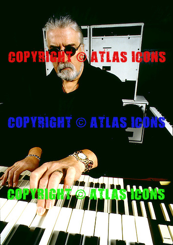 Deep Purple - keyboard player Jon Lord - photogrpahed exclusively at Hook End Studios, Berkshire UK - 03 Feb 1996. .Photo credit:<br /> George Chin/IconicPix/AtlasIcons.com