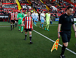 Captain Regan Slater leads out Sheffield Utd during the Professional Development League play-off final match at Bramall Lane Stadium, Sheffield. Picture date: May 10th 2017. Pic credit should read: Simon Bellis/Sportimage