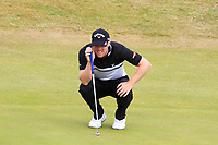 David Horsey (ENG) on the 5th green during Round 3 of the Dubai Duty Free Irish Open at Ballyliffin Golf Club, Donegal on Saturday 7th July 2018.<br />