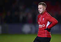 Lincoln City's Danny Rowe during the pre-match warm-up<br /> <br /> Photographer Andrew Vaughan/CameraSport<br /> <br /> The EFL Sky Bet League Two - Lincoln City v Yeovil Town - Friday 8th March 2019 - Sincil Bank - Lincoln<br /> <br /> World Copyright © 2019 CameraSport. All rights reserved. 43 Linden Ave. Countesthorpe. Leicester. England. LE8 5PG - Tel: +44 (0) 116 277 4147 - admin@camerasport.com - www.camerasport.com