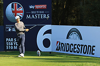 Thorbjorn Olesen (DEN) on the 6th tee during the Pro-Am for the Sky Sports British Masters at Walton Heath Golf Club in Tadworth, Surrey, England on Tuesday 10th Oct 2018.<br />