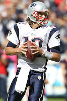 10/24/10 San Diego, CA:  New England Patriots quarterback Tom Brady #12 during an NFL game played at Qualcomm Stadium between the San Diego Chargers and the New England Patriots. The Patriots defeated the Chargers 23-20.