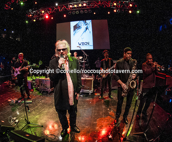 Al Kooper (founding member of Blood Sweat and Tears,keyboardist for Bob Dylan, producer for Lynard Skynyrd, playing WBCN 'The American Revolution' concert at Boston House of Blues.
