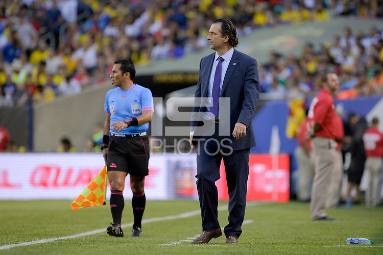 Chicago, IL - Wednesday June 22, 2016: Juan Antonio Pizzi during a Copa America Centenario semifinal match between Colombia (COL) and Chile (CHI) at Soldier Field.