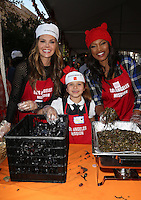 Los Angeles, CA - NOVEMBER 23: Ali Landry, Estela Ines Monteverde, Garcelle Beauvais, At Los Angeles Mission Thanksgiving Meal For The Homeless At Los Angeles Mission, California on November 23, 2016. Credit: Faye Sadou/MediaPunch