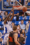 March 24,  2010                  Saint Louis forward Willie Reed (33) dunks in the second half, in foreground is Princeton forward Ian Hummer (34).   The Saint Louis University Billikens defeated the Princeton Tigers 69-59 in a semifinal game of the College Basketball Invitational Tournament on Wednesday March 24, 2010 at the Chaifetz Arena, on the campus of Saint Louis University.  They advance in the post-season CBI Tournament and will play Virginia Commonwealth University on Monday 29, 2010 in Richmond, VA.