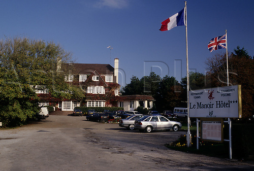 A view of the Le Manoir Hotel at Le Touquet golf club in Northern France. Photo: Brian Morgan/actionplus...course courses clubs general views scene scenery spectacular landscape venue French 163