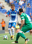Hernan Perez in action during La Liga Game between RCD Espanyol agaisnt Leganes at RCDE Stadium