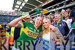 Kieran Donaghy wth his wife Hilary. Kerry players celebrate their victory over Donegal in the All Ireland Senior Football Final in Croke Park Dublin on Sunday 21st September 2014.