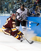 David Grun (Duluth - 27), Greg Coburn (Union - 20) - The University of Minnesota-Duluth Bulldogs defeated the Union College Dutchmen 2-0 in their NCAA East Regional Semi-Final on Friday, March 25, 2011, at Webster Bank Arena at Harbor Yard in Bridgeport, Connecticut.