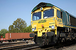 Freightliner train engine, Rail freight terminal, Port of Felixstowe, Suffolk