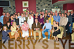 8679-8683.J.P. Gurnett from Doon Tralee, seated centre having a wonderful time with family friends and former workmates at his retirement party following 37 years with the ESB held in O'Donnell's of Mounthawk on Friday night.
