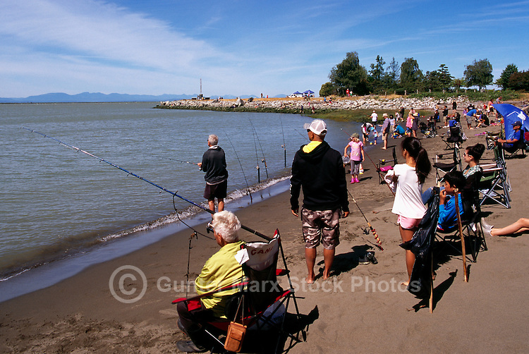 Steveston, BC, British Columbia, Canada - Annual Steveston Bullhead Derby at Garry Point Park (part of Steveston Salmon Festival)