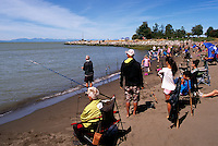 Steveston, BC, British Columbia, Canada - Annual Steveston Bullhead Derby at Garry Point Park (part of Steveston Salmon Festival)