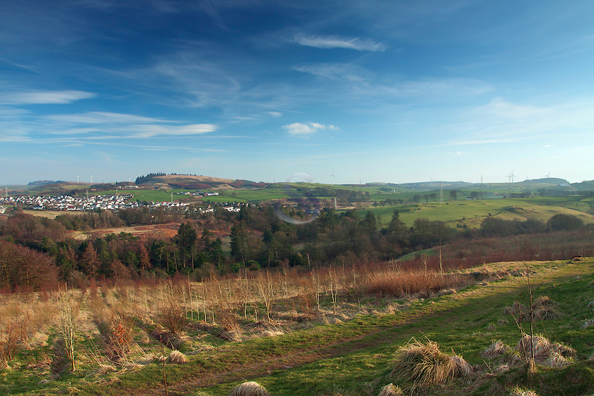 Neilston and Neilston Pad from the Lochboilside Hills, Neilston, East Renfrewshire