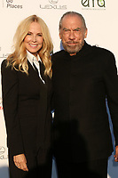 LOS ANGELES - SEP 23:  Eloise DeJoria, John Paul DeJoria at the 27th Environmental Media Awards at the Barker Hangaer on September 23, 2017 in Santa Monica, CA