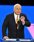 St. Paul, MN - September 4, 2008 -- United States Senator John McCain (Republican of Arizona) accepts his party's nomination as President of the United States on day 4 of the 2008 Republican National Convention at the Xcel Energy Center in St. Paul, Minnesota on Thursday, September 4, 2008..Credit: Ron Sachs / CNP