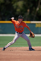 Baltimore Orioles Clay Fisher (28) during a Minor League Spring Training game against the Minnesota Twins on March 25, 2019 at the Buck O'Neil Baseball Complex in Sarasota, Florida.  (Mike Janes/Four Seam Images)