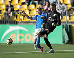 FK Trakai v St Johnstone&hellip;06.07.17&hellip; Europa League 1st Qualifying Round 2nd Leg, Vilnius, Lithuania.<br />Chris Kane puts pressure on Ignas Plukas<br />Picture by Graeme Hart.<br />Copyright Perthshire Picture Agency<br />Tel: 01738 623350  Mobile: 07990 594431