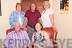 Maria Lynch, Vancouver, Canada, pictured with Michael Dowling, Killarney, Margaret O'Riordan, Kilcummin, John Lynch, Vancouver and Bridget Withey, Cardiff, as she celebrated a special birthday in Lord Kenmares restaurant, Killarney on Friday night.......................