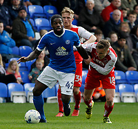 Peterborough United's Anthony Grant gets away from Fleetwood Town's George Glendon<br /> <br /> Photographer David Shipman/CameraSport<br /> <br /> The EFL Sky Bet League One - Peterborough United v Fleetwood Town - Friday 14th April 2016 - ABAX Stadium  - Peterborough<br /> <br /> World Copyright &copy; 2017 CameraSport. All rights reserved. 43 Linden Ave. Countesthorpe. Leicester. England. LE8 5PG - Tel: +44 (0) 116 277 4147 - admin@camerasport.com - www.camerasport.com