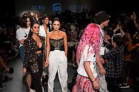 NEW YORK, NY- SEPTEMBER 6: Andrea and Eliana Salazar of Seta Apparel walks at the end of the show during the New York Fashion Week at Pier 59 studios on September 6, 2019 in New York City. (Photo by Pablo Monsalve / VIEWpress )
