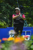 Laura Davies (ENG) watches her tee shot on 13 during round 2 of the 2018 KPMG Women's PGA Championship, Kemper Lakes Golf Club, at Kildeer, Illinois, USA. 6/29/2018.<br /> Picture: Golffile | Ken Murray<br /> <br /> All photo usage must carry mandatory copyright credit (© Golffile | Ken Murray)