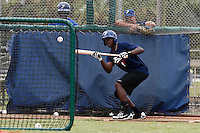 19 September 2012: France Frederic Hanvi is seen during the batting practice prior to Team France friendly game won 6-3 against Palm Beach State College, during the 2012 World Baseball Classic Qualifier round, in Lake Worth, Florida, USA.