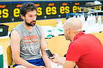 Player Sergio Llull attends an interviews after the first training of Spanish National Team of Basketball 2019 . July 26, 2019. (ALTERPHOTOS/Francis González)