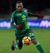 2nd December 2017, Stadio Olimpico Grande Torino, Turin, Italy; Serie A football, Torino versus Atalanta; Joel Obi on the ball