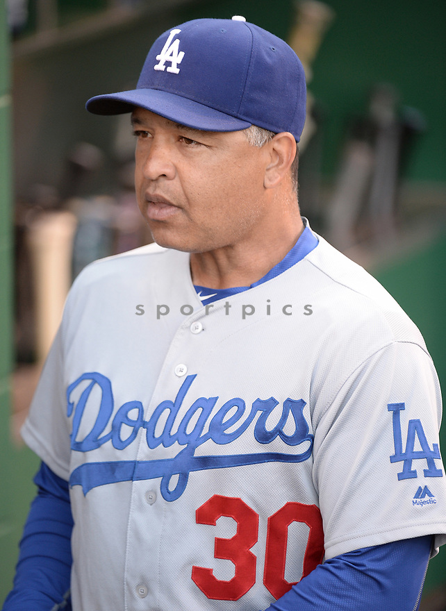 Los Angeles Dodgers Dave Roberts (30) during a game against the Pittsburgh Pirates on June 26, 2016 at PNC Park in Pittsburgh, PA. The Dodgers beat the Pirates 4-3.