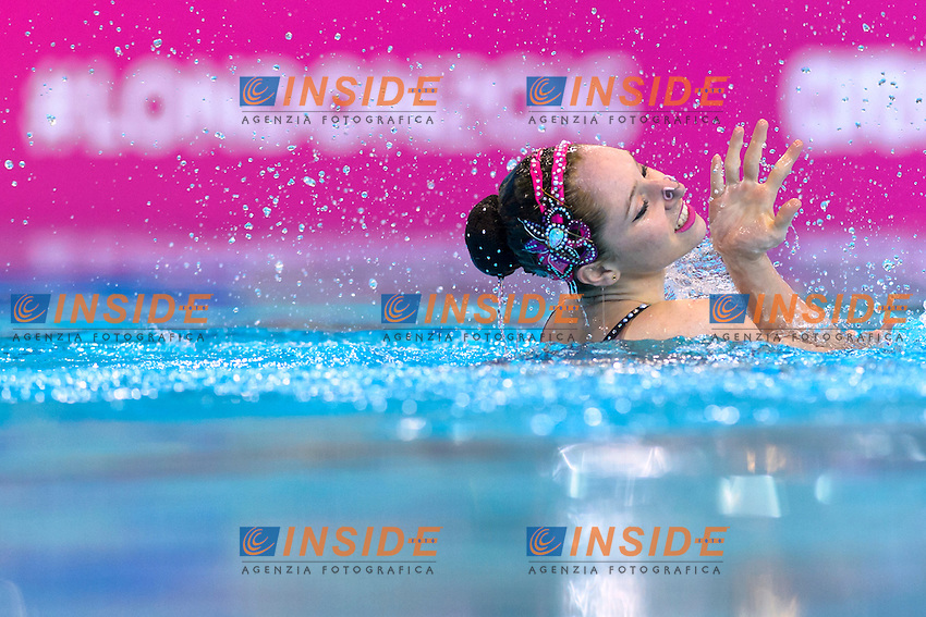 HUBAUD Estel Anais FRA France<br /> Solo Free<br /> London, Queen Elizabeth II Olympic Park Pool <br /> LEN 2016 European Aquatics Elite Championships <br /> Synchronized Swimming  <br /> Day 01 09-05-2016<br /> Photo Andrea Staccioli/Deepbluemedia/Insidefoto