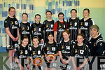 UNDER 12: St Pauls Killarney girls basketball team who played in the Kab Juvenille Cup on Sunday in Cumann Ioseaf Gym Tralee. Front l-r: Megan O'Callaghan, Rachel McGovern, Alanna Grealey,Seodhna O'Donoghue, Leanne Pierce and Seamus Grealey (Coach). Back l-r: Teresa Sheahan, Caitlin Falvey, Aimy Coffey, Megan O'Neill, Rebecca Daly, Ellie Davis and Annie Potts..........