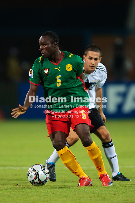 ISMAILIA, EGYPT - OCTOBER 2:  Enow Tabot of Cameroon with the ball during a FIFA U-20 World Cup Group C match against Germany October 2, 2009 at Ismailia Stadium in Ismailia, Egypt.  (Photograph by Jonathan P. Larsen)