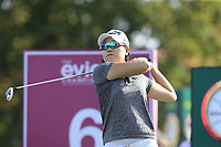 Jeong Eun Lee (KOR) tees off the 6th tee during Thursday's Round 1 of The Evian Championship 2018, held at the Evian Resort Golf Club, Evian-les-Bains, France. 13th September 2018.<br /> Picture: Eoin Clarke | Golffile<br /> <br /> <br /> All photos usage must carry mandatory copyright credit (&copy; Golffile | Eoin Clarke)